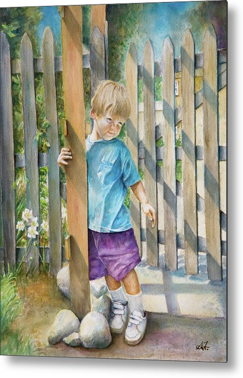 Portrait Metal Print featuring the painting Age Of Innocence by Arthur Fix