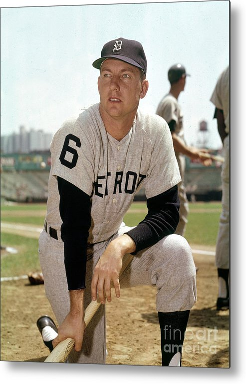 American League Baseball Metal Print featuring the photograph Al Kaline by Louis Requena