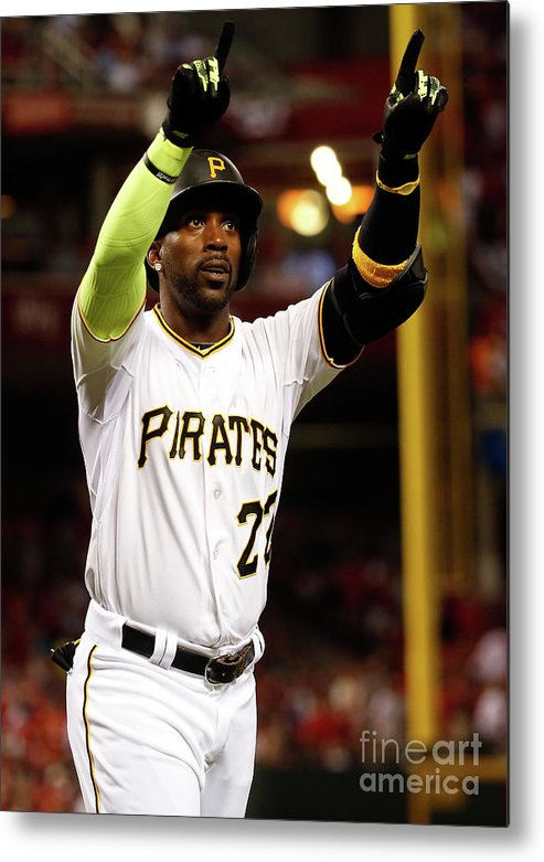 Great American Ball Park Metal Print featuring the photograph Andrew Mccutchen by Rob Carr