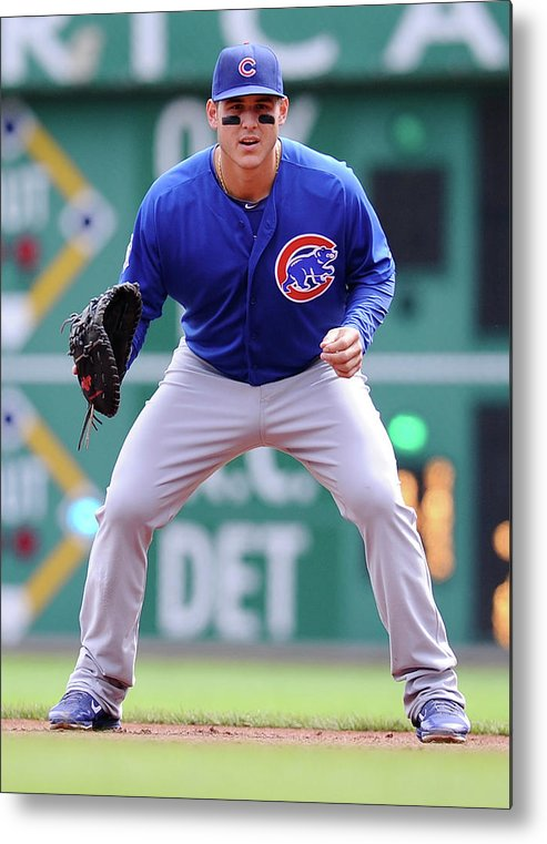 Pnc Park Metal Print featuring the photograph Anthony Rizzo by Joe Sargent