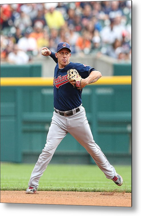 American League Baseball Metal Print featuring the photograph Asdrubal Cabrera And Torii Hunter by Leon Halip