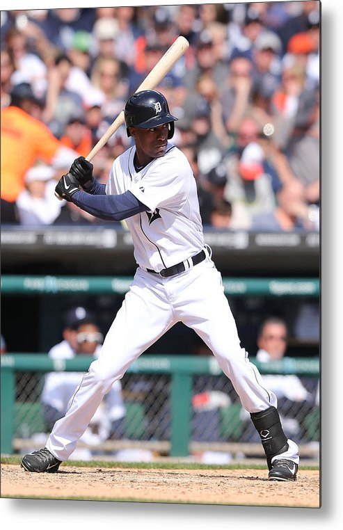American League Baseball Metal Print featuring the photograph Austin Jackson by Leon Halip