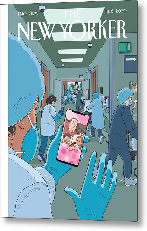 Bedtime Metal Print featuring the painting Bedtime by Chris Ware
