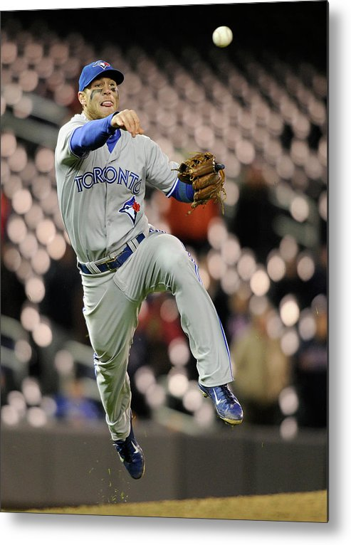 Game Two Metal Print featuring the photograph Brett Lawrie by Brian Blanco