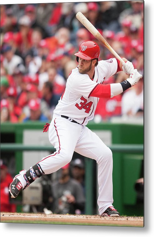 National League Baseball Metal Print featuring the photograph Bryce Harper by Mitchell Layton