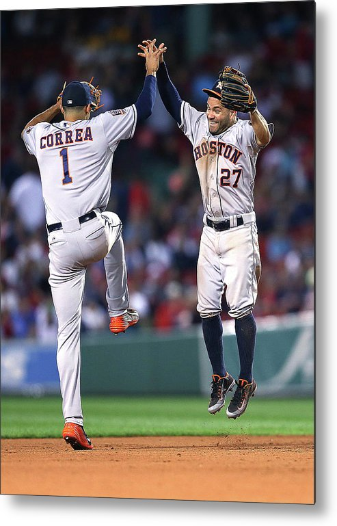 People Metal Print featuring the photograph Carlos Correa by Jim Rogash