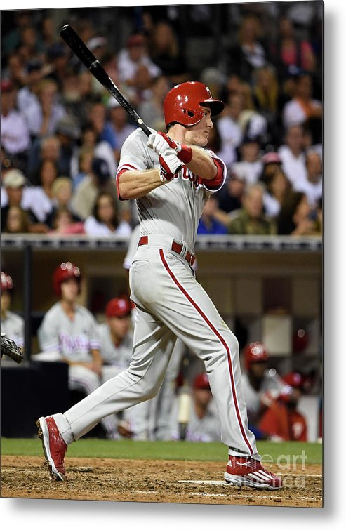 People Metal Print featuring the photograph Chase Utley by Denis Poroy