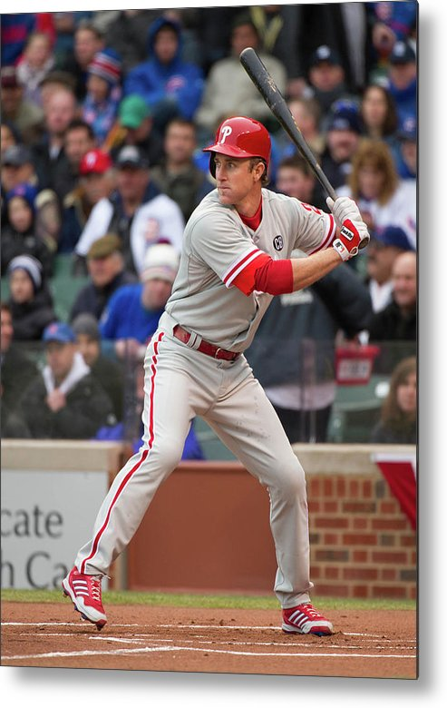 National League Baseball Metal Print featuring the photograph Chase Utley by Ron Vesely