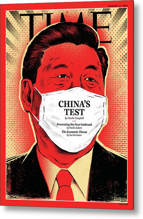 China Metal Print featuring the photograph China's Test by Illustration by Edel Rodriguez for TIME