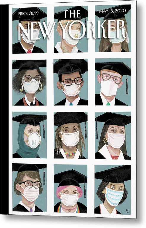 Student Metal Print featuring the painting Class Of 2020 by Anita Kunz
