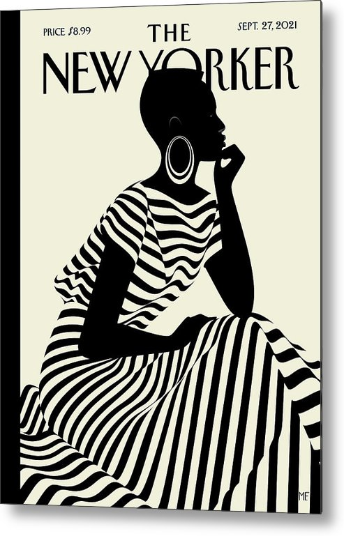 Fashion Metal Print featuring the digital art Composed by Malika Favre