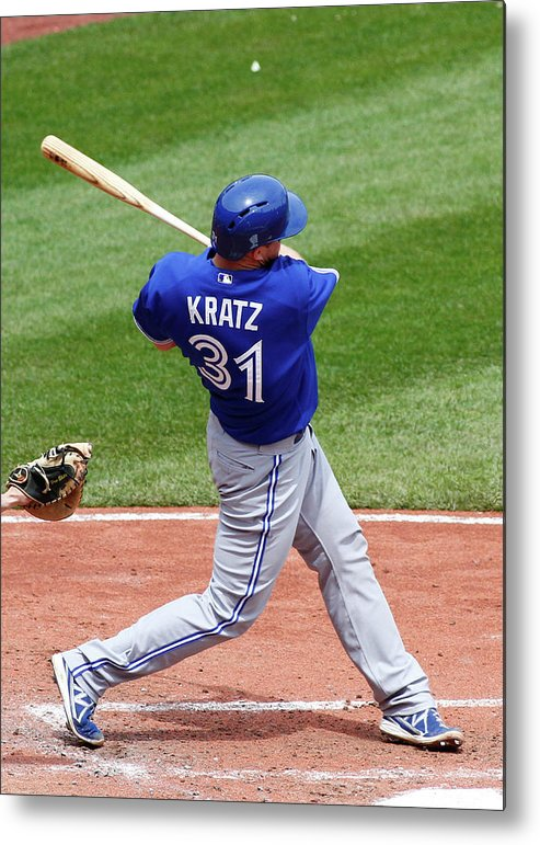Professional Sport Metal Print featuring the photograph Erik Kratz by Justin K. Aller