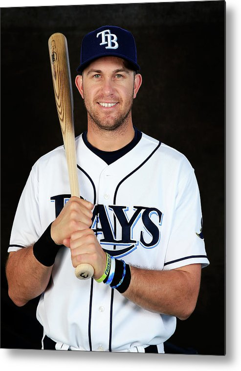 Media Day Metal Print featuring the photograph Evan Longoria by Rob Carr