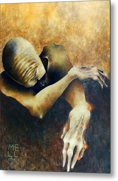 Figure Metal Print featuring the painting Figure Five by Mark M Mellon