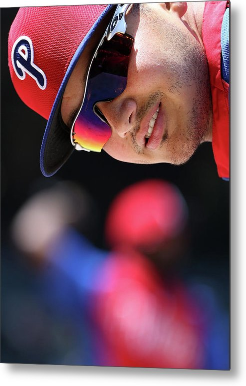 National League Baseball Metal Print featuring the photograph Freddy Galvis by Christian Petersen