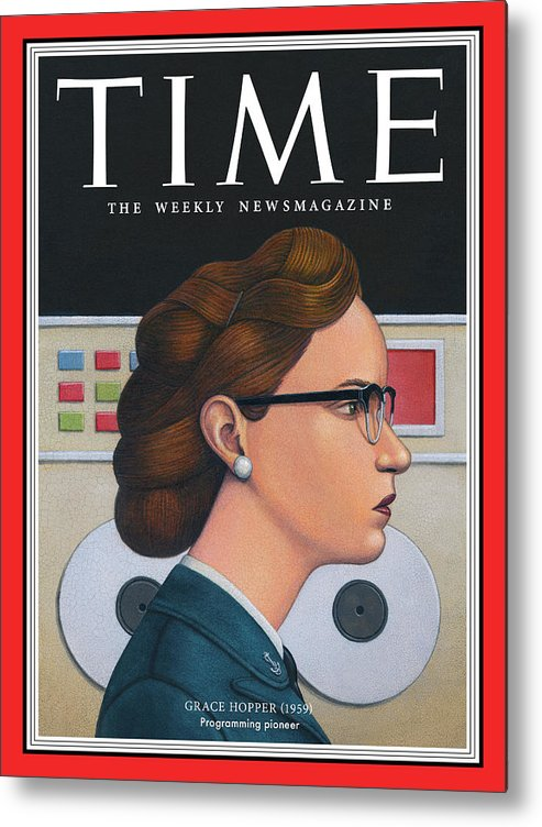 Time Metal Print featuring the photograph Grace Hopper, 1959 by Illustration by Marc Burckhardt for TIME