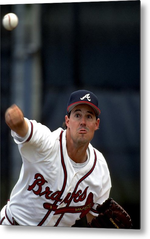Baseball Pitcher Metal Print featuring the photograph Greg Maddux by Ronald C. Modra/sports Imagery