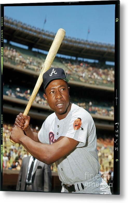 People Metal Print featuring the photograph Hank Aaron by Louis Requena