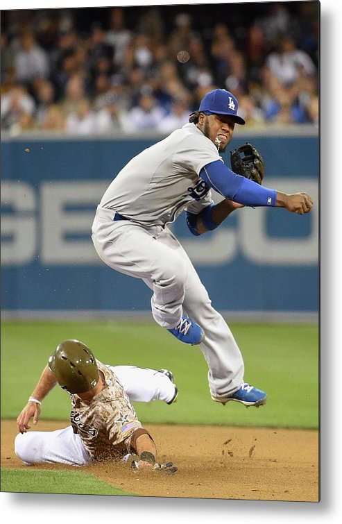 Double Play Metal Print featuring the photograph Hanley Ramirez by Denis Poroy
