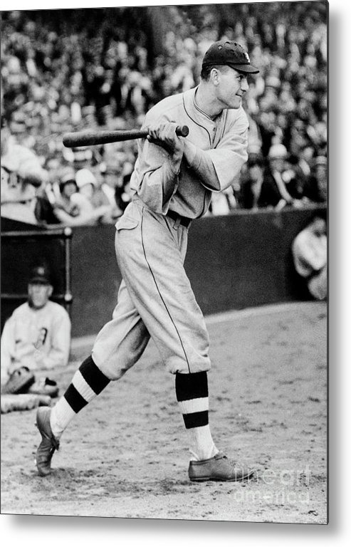 People Metal Print featuring the photograph Heinie Manush by National Baseball Hall Of Fame Library