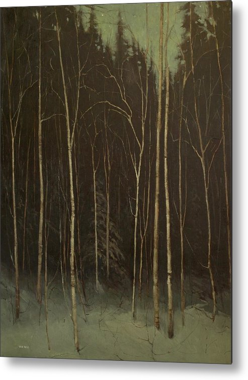 Metal Print featuring the painting Hinterland by Mary Jo Van Dell