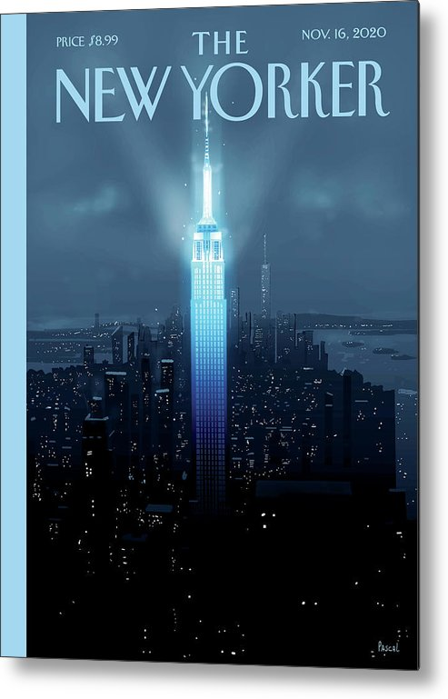 New York Metal Print featuring the painting Hope Again by Pascal Campion