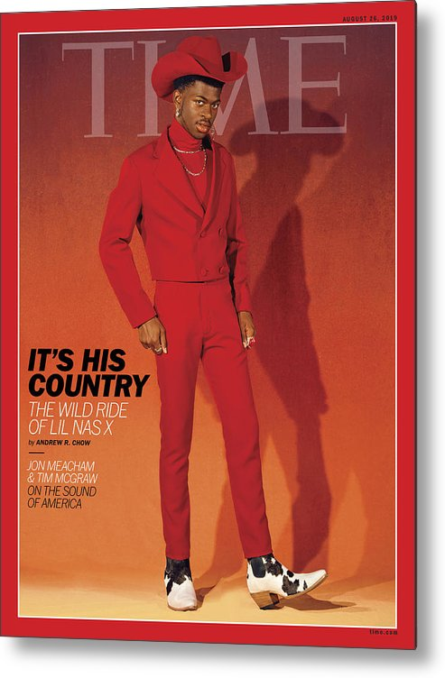 Music Metal Print featuring the photograph It's His Country - Lil Nas X by Photograph by Kelia Anne for TIME