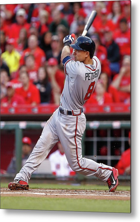 Great American Ball Park Metal Print featuring the photograph Jace Peterson by Michael Hickey