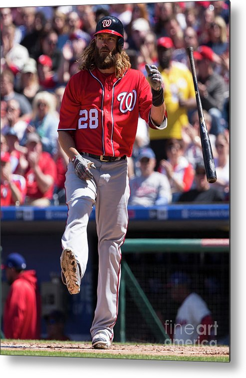 Second Inning Metal Print featuring the photograph Jayson Werth by Mitchell Leff