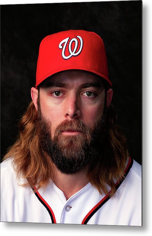 Media Day Metal Print featuring the photograph Jayson Werth by Rob Carr