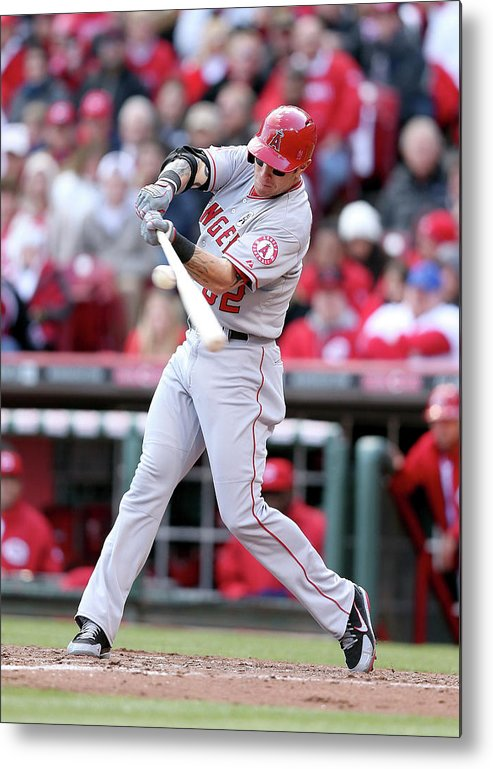 Great American Ball Park Metal Print featuring the photograph Josh Hamilton by Andy Lyons