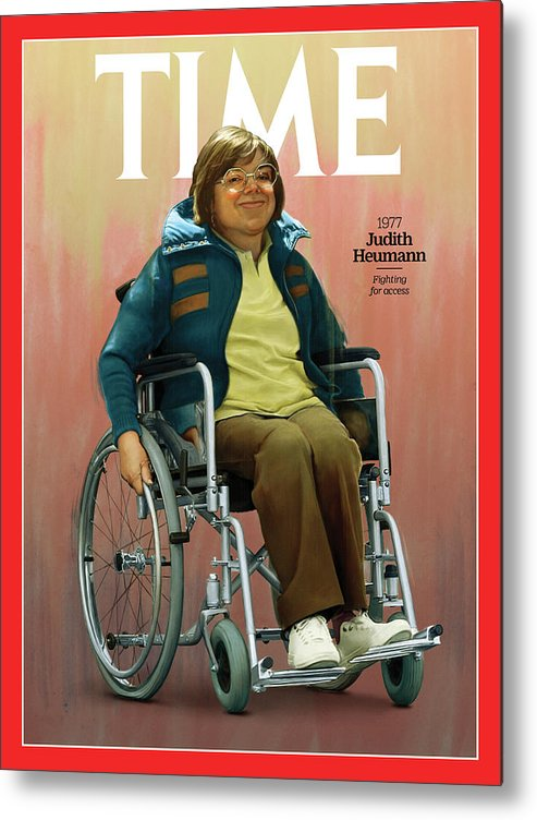 Time Metal Print featuring the photograph Judith Heumann, 1977 by Illustration by Jason Seiler for TIME