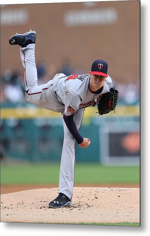 American League Baseball Metal Print featuring the photograph Kyle Gibson by Leon Halip