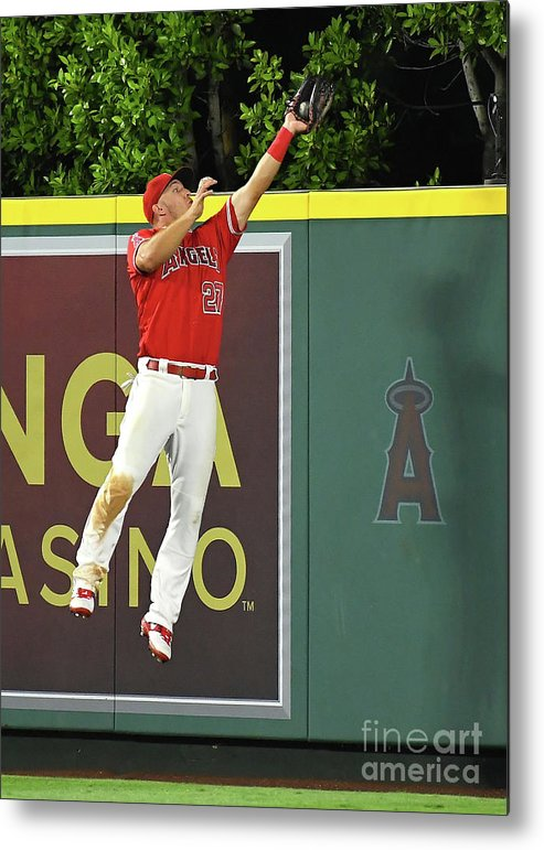 People Metal Print featuring the photograph Kyle Seager and Mike Trout by Jayne Kamin-oncea