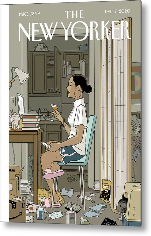 Pandemic Metal Print featuring the digital art Love Life by Adrian Tomine