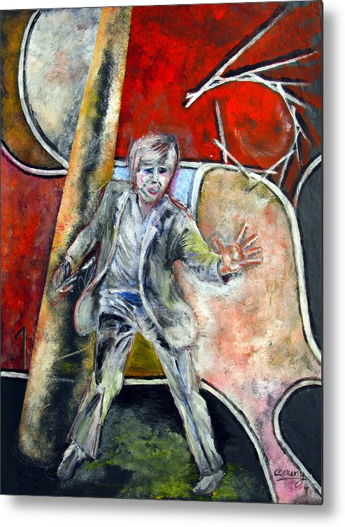 Male Metal Print featuring the painting Mad World by Tom Conway
