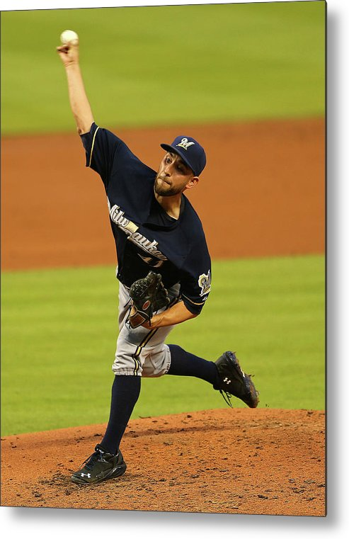 American League Baseball Metal Print featuring the photograph Marco Estrada by Mike Ehrmann