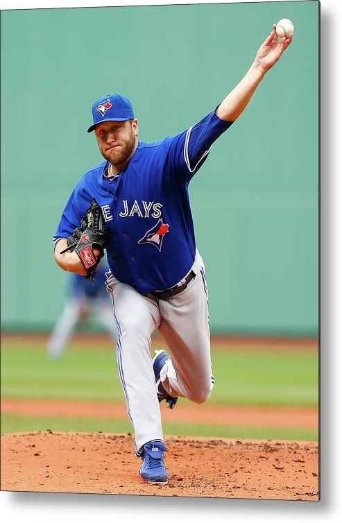 American League Baseball Metal Print featuring the photograph Mark Buehrle by Jared Wickerham