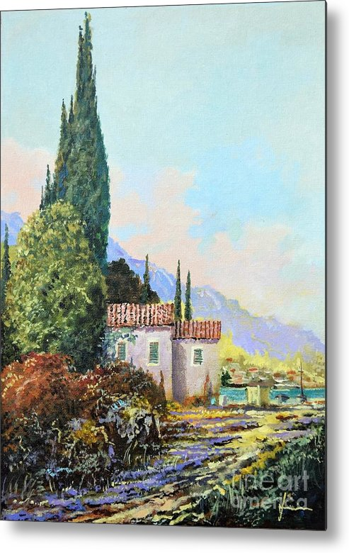 Original Painting Metal Print featuring the painting Mediterraneo 2 by Sinisa Saratlic