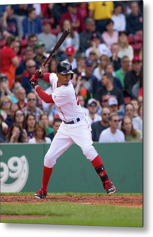 Second Inning Metal Print featuring the photograph Mookie Betts by Rich Gagnon