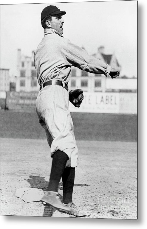 American League Baseball Metal Print featuring the photograph Nap Lajoie by National Baseball Hall Of Fame Library