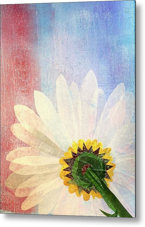 Flower Metal Print featuring the mixed media New Perspective by Forrest Fortier