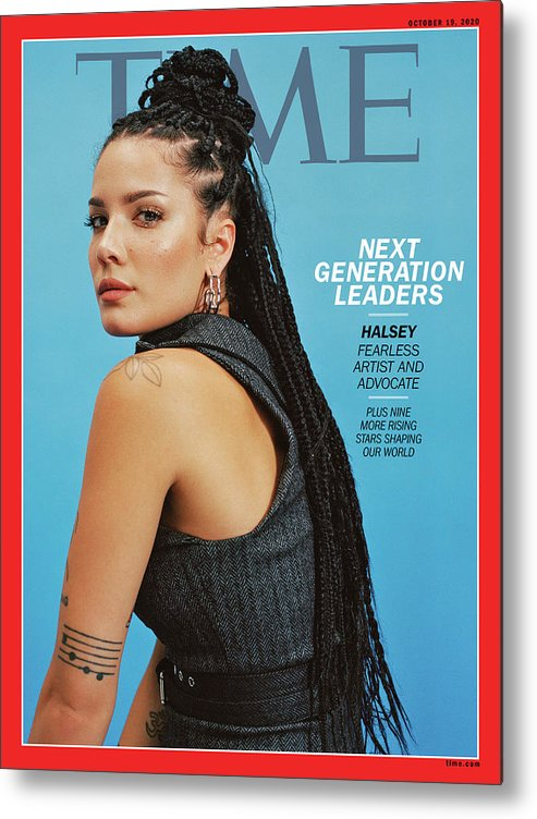 Next Generation Leaders Metal Print featuring the photograph NGL - Halsey by Photograph by Daria Kobayashi Ritch for TIME