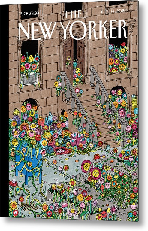 New York Metal Print featuring the painting Overgrown by Edward Steed