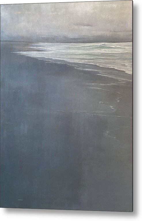Metal Print featuring the painting Point Reyes by Mary Jo Van Dell