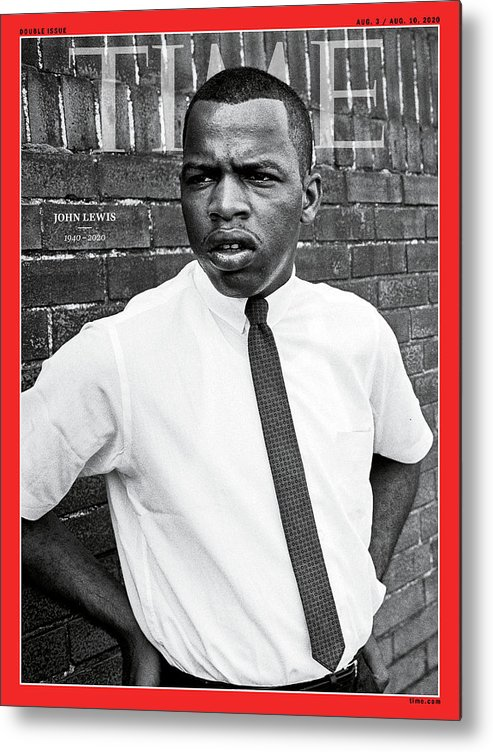 Rep. John Lewis Metal Print featuring the photograph Rep. John Lewis 1940-2020 by Steve Schapiro Getty Images