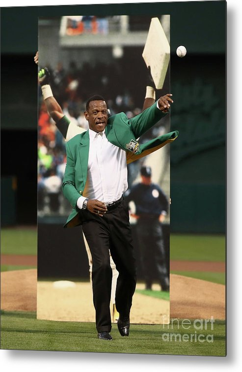 People Metal Print featuring the photograph Rickey Henderson by Ezra Shaw