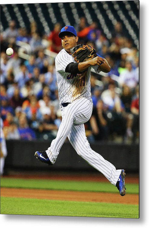 People Metal Print featuring the photograph Ruben Tejada by Al Bello