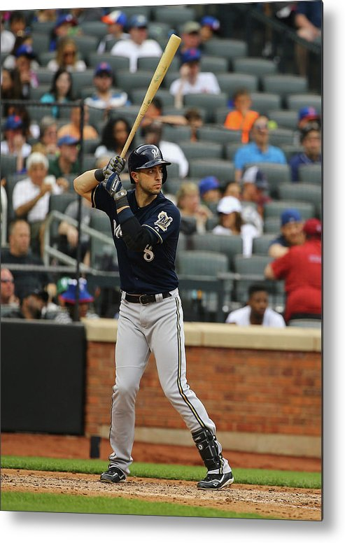 People Metal Print featuring the photograph Ryan Braun by Al Bello