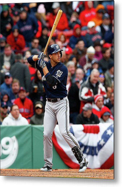 American League Baseball Metal Print featuring the photograph Ryan Braun by Jared Wickerham